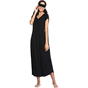 Dromild Zip Front Robe for Women Plus Size Cotton Full Length Nightgowns Nightdress NightwearS-XXL