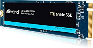 Inland Premium 2TB SSD 3D NAND TLC M.2 2280 PCIe NVMe 3.0 x4 Internal Solid State Drive, Read/Write Speed up to 3200MB/s and 2900MB/s, 3200 TBW