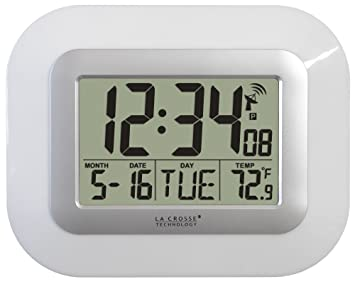La Crosse Technology WT-8005U-W Reloj digital de pared at-mico con
