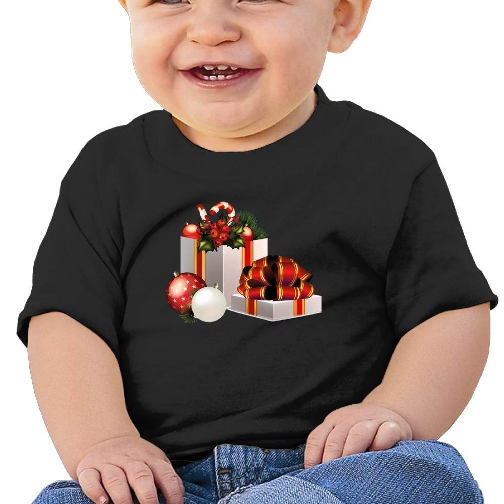 FFWWLHR Christmas Decorations Baby Undershirts Unisex Fashion Merry Christmas Cotton Baby Toddler Short Sleeve Tees