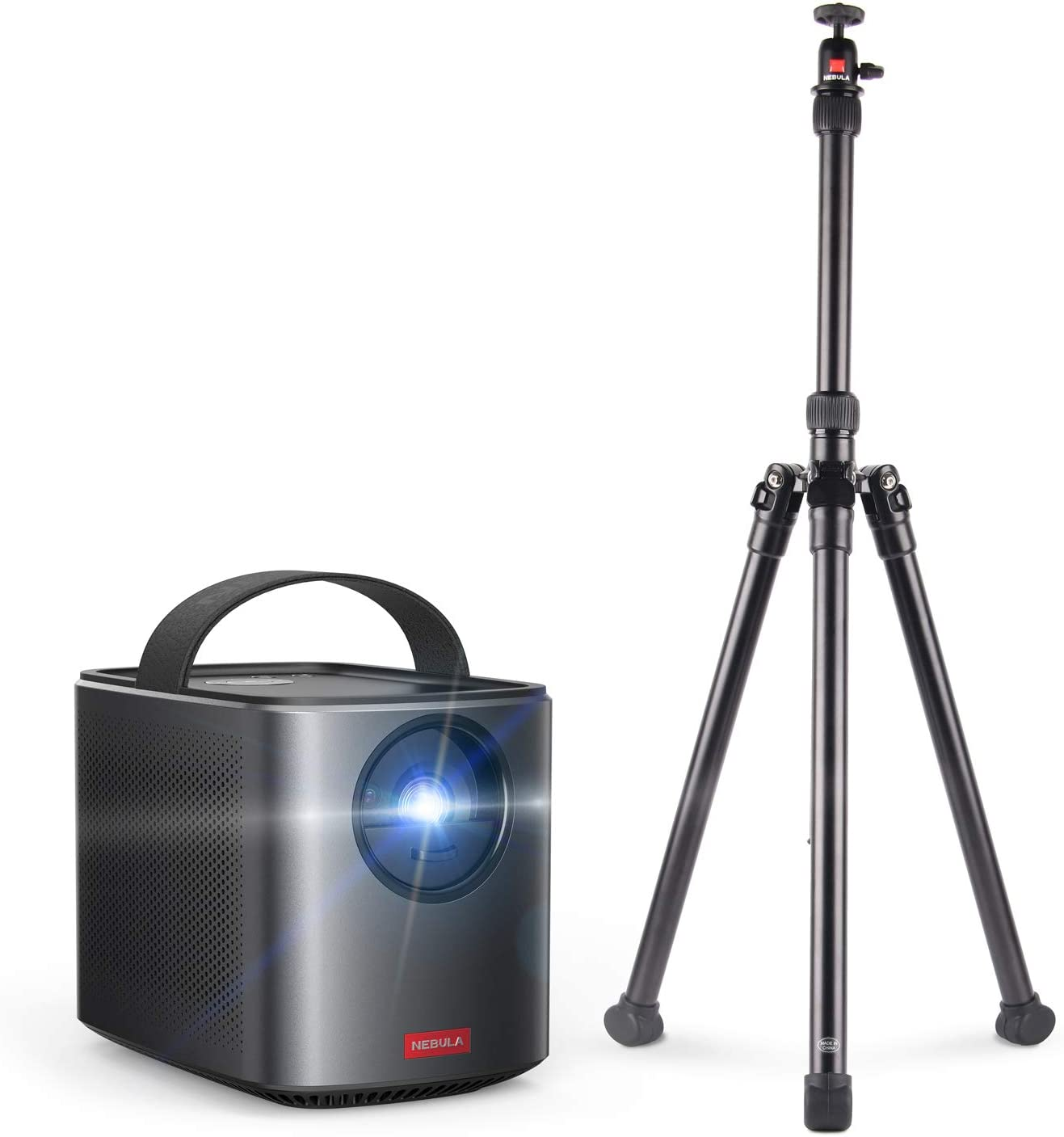 Nebula by Anker Mars II Pro 500 ANSI Lumen Portable Projector with Anker Nebula Mars 2 Universal Tripod 3 Feet Black – Tripods