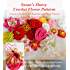 Susan's Showy Crochet Flower Patterns: Crochet Patterns for Beautiful and Bold Flowers and Fun Drawstring Bag
