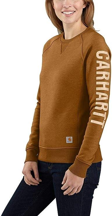 CBX#27-706 Carhartt Ladies Dunlow Sweatshirt sz SMALL  COASTLINE Heather