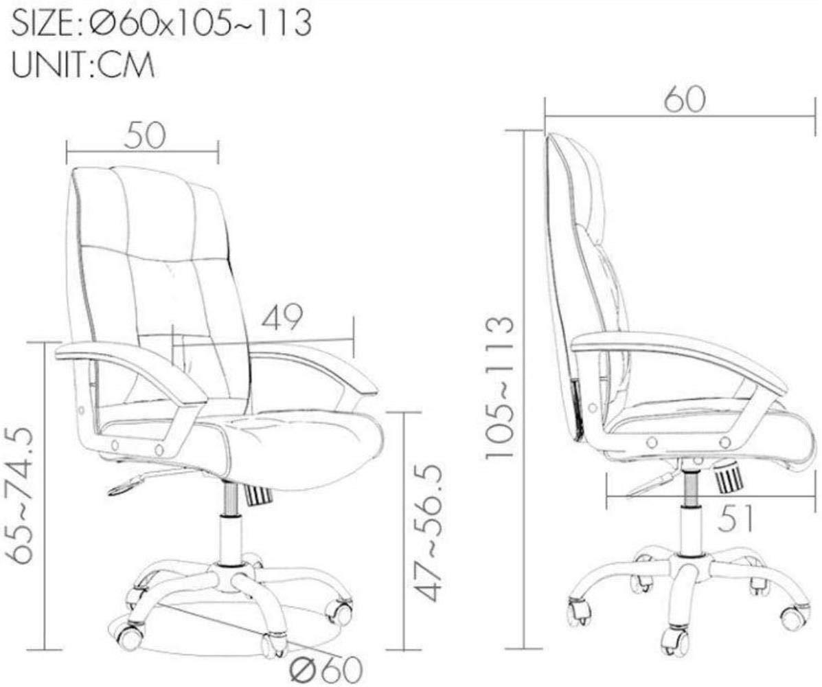 Barstolar Xiuyun svängbar stol – datorstol hemstol läder konst kontorsstol spelstol konferensstol enkel E-sportstol mobil lyftstol (färg: A) a