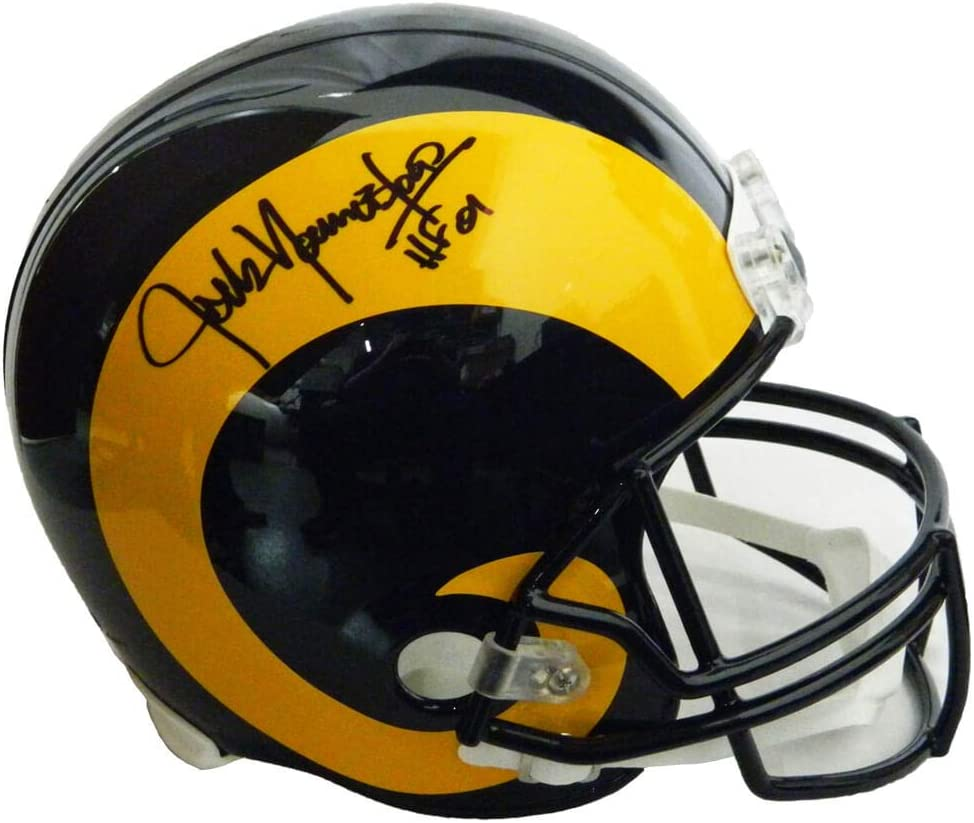 Schwartz Authentic Jack Youngblood Signed LA Rams Throwback Riddell Full-Size Helmet w//HF01