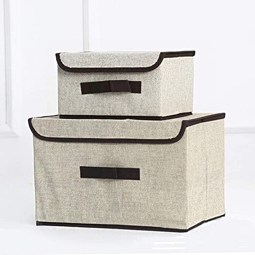 Kuty Cajas de Almacenaje, Set de 2 Tela no Tejida Cubos de ...