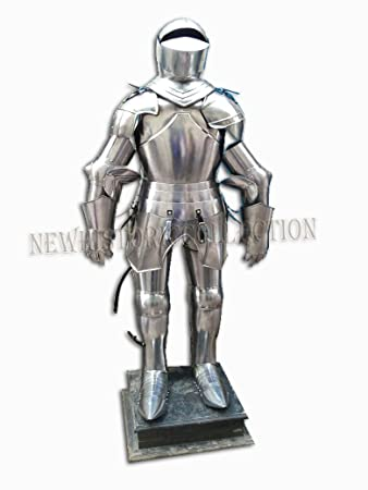 British Medieval Knight Crusader Full Suit Of Armor Collectible