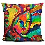LiLiPi Mardi Gras Lady 3 Decorative Accent Throw Pillow