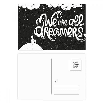 DIYthinker Somos soñadores Negro Blanco Cita Gracias tarjeta ...