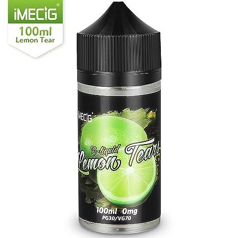 IMECIG 100ml E líquido Lágrima de limón Liquido Vaper Para Cigarros electronicos 70/30 E Liquid Cigarrillo Electronico Premium Sabores Vapeador 0mg ...