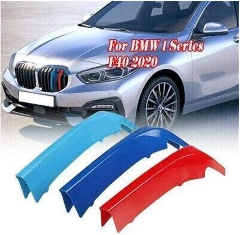 JUZZQ Clip in Grille Inserti di Colore Front Grill Disposizione della Copertura della Compatibile for BMW Serie 1 F40 2020 7 Travi M Potenza M Sport