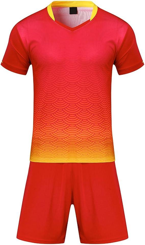BOZEVON el Fútbol Ropa Deportiva Chándales Niños y Adultos - Mangas Cortas Sudor Absorbente Transpirable Traje Camiseta Conjunto: Amazon.es: Ropa y accesorios