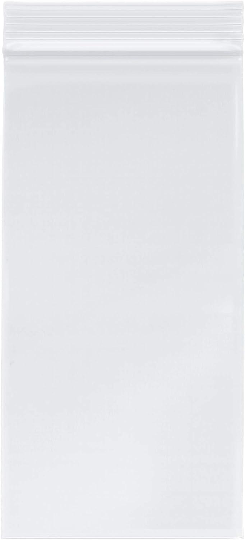 Plymor Heavy Duty Plastic Reclosable Zipper Bags, 4 Mil, 4