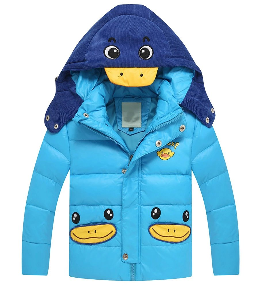Kmety Big Boys' Cartoon Duckling Bubble Jacket with Hood