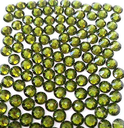 OLIVINE Crystal Rhinestones Flatback 144 SWAROVSKI 3.8mm 16ss (Olivine Rhinestone)