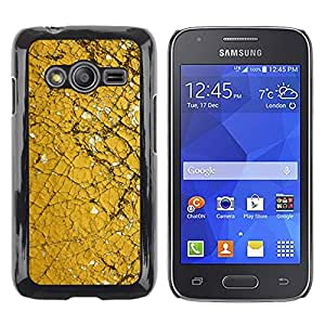 LECELL--Funda protectora / Cubierta / Piel For Samsung Galaxy Ace 4 G313 SM-G313F -- Paint Chipped Cracked Yellow --