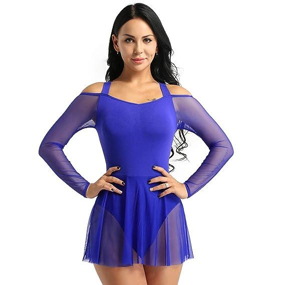 inhzoy Vestido de Danza Ballet para Mujer Maillot de ...