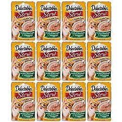 Delectables Stew Lickable Wet Cat Treats - Chicken & Veggies - 12 Pack