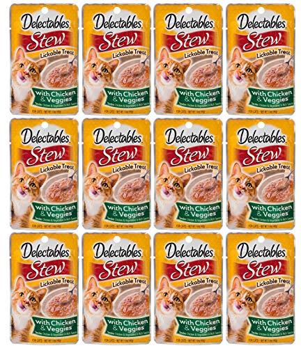 Delectables Stew Lickable Wet Cat Treats - Chicken & Veggies - 12 -