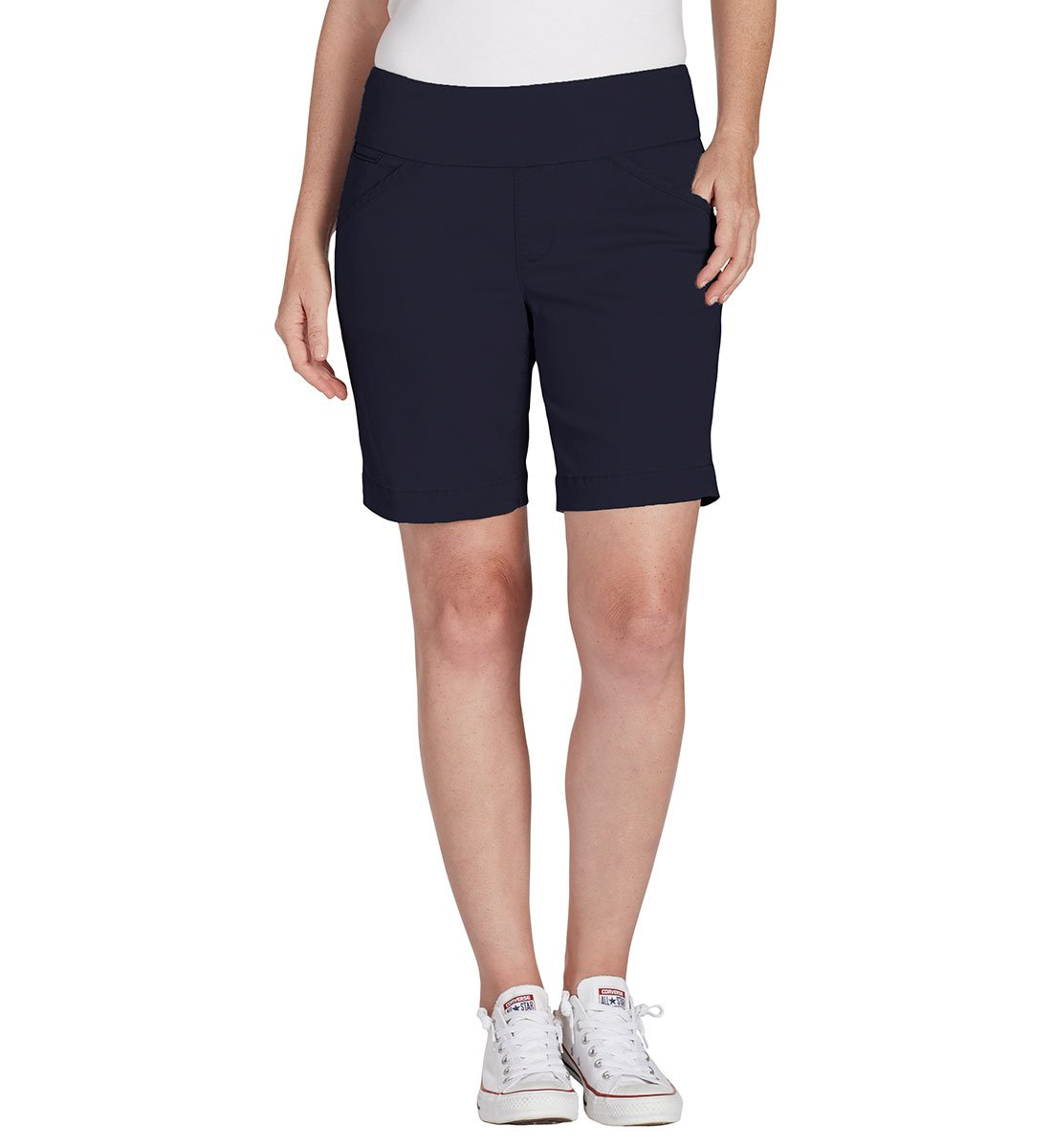 Jag Jeans Women's Ainsley Pull on 8'' Short, Nautical Navy, 8