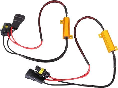 1 Pair H8 H9 H11 50W 6 Ohm LED Lights Load Resistor Adapter Fix Hyper Flashing Blinking Canbus Error Warning Canceller Decoder