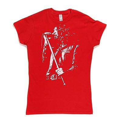 de7e11d2995b1c Ian Gillan Womens Fitted T-shirt (red/white xxlarge): Amazon.co.uk: Clothing