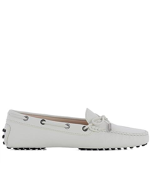 Tods Mujer Xxw0fw050305j1b015 Blanco Cuero Zapatos