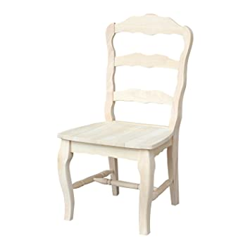 International Concepts C 9209P Versailles Side Chair, Unfinished