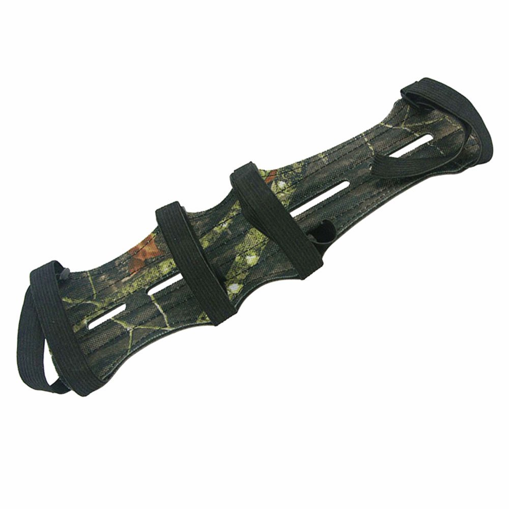 MagiDeal 1pc Archery Recurve Bow Arm Guard Protection 3 Straps Camouflage