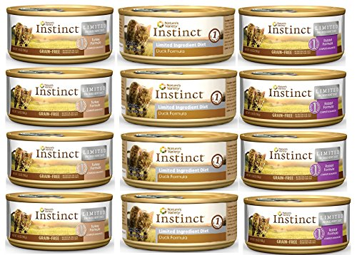 Image of Nature's Variety Instinct Limited Ingredient Diet Wet Cat Food Variety Box - 3 Flavors (Duck, Rabbit, and Turkey) 5.5 Ounce - 12 Total Cans