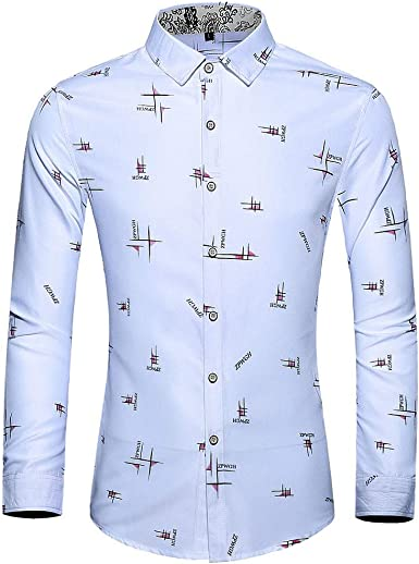 AOGOTO - Camiseta de Manga Larga para Hombre, diseño Informal ...