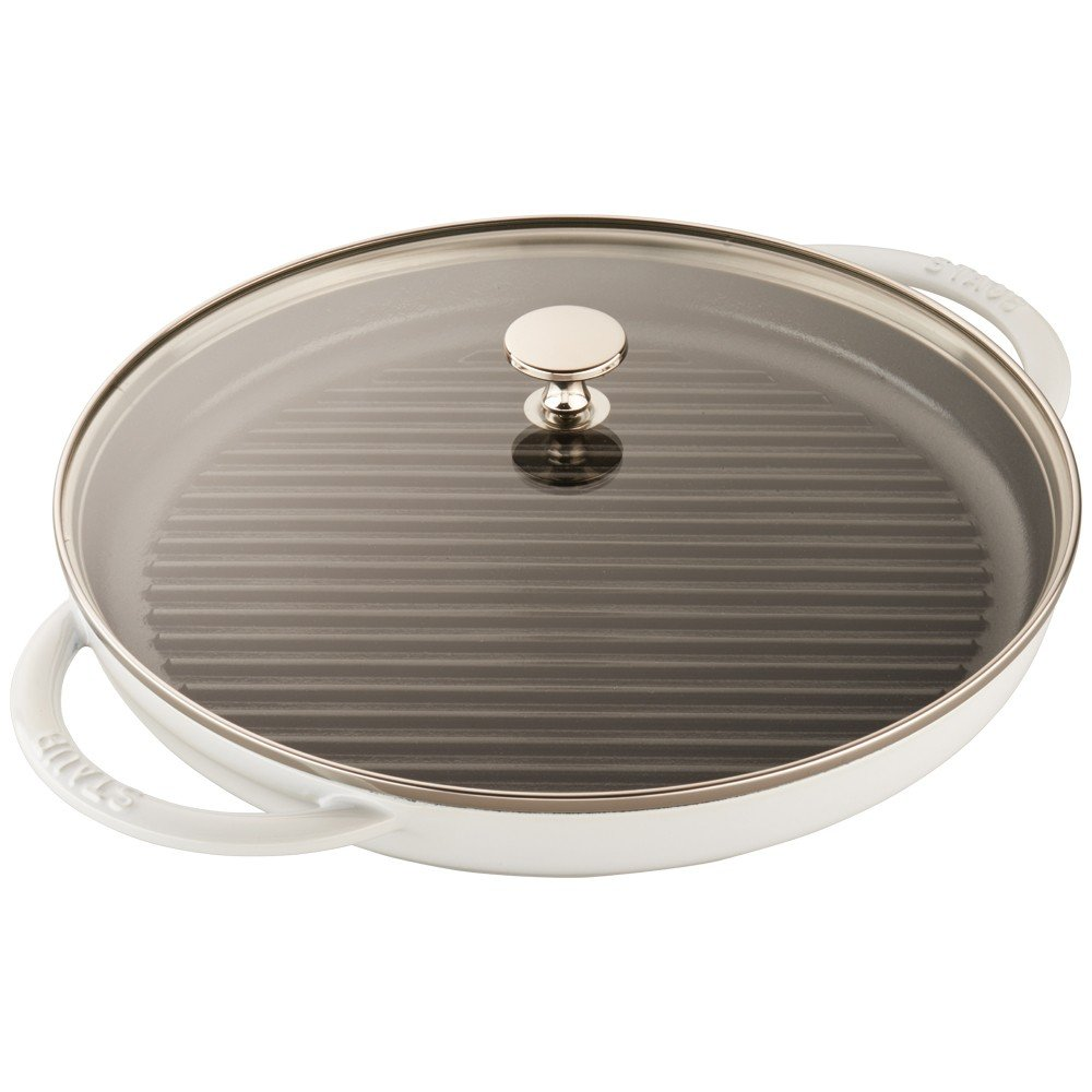 12-inch Cherry Staub 12043006 Cast Iron Round Steam Grill