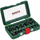 Bosch - Pack de 15 fresas con inserción de 8 mm
