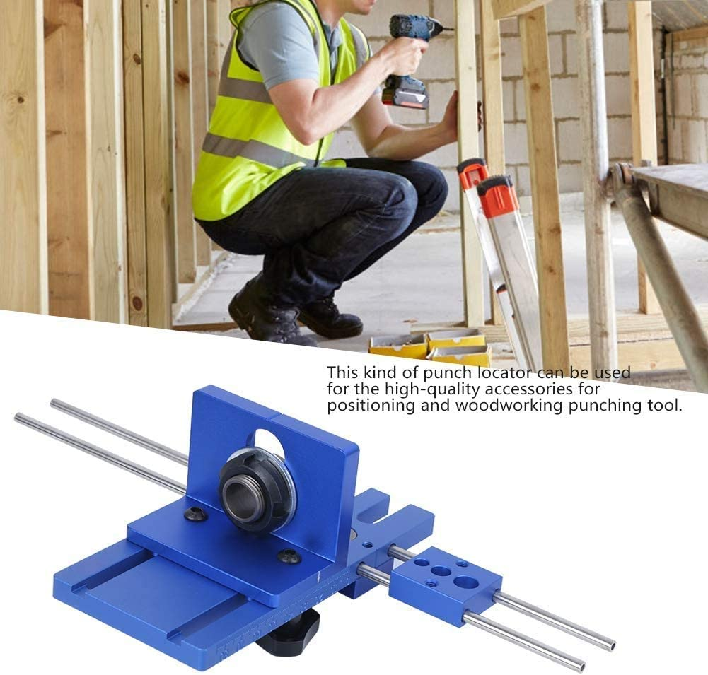 Wood Doweling Jig Hole Drilling Guide Woodworking Positioner Locator Tool Drilling Jig FQMAO 3-in-1 Woodworking Pocket Hole Jig Drill Guide