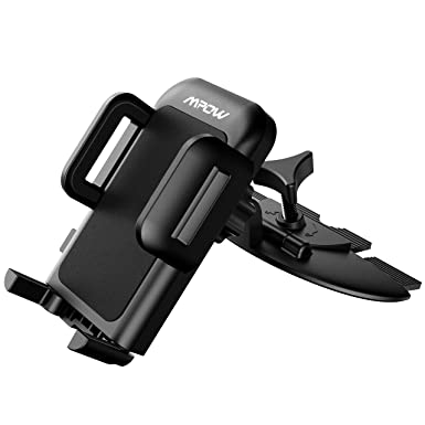 Mpow Soporte de teléfono móvil para coche, parabrisas largo brazo soporte de coche con diseño