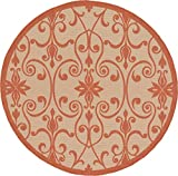 Cheap Outdoor Collection Area Rug – Beige 6′-Feet-Round, Perfect for Indoor & Outdoor Rugs – Garden and Pool Area, Camping, Picnic Carpet