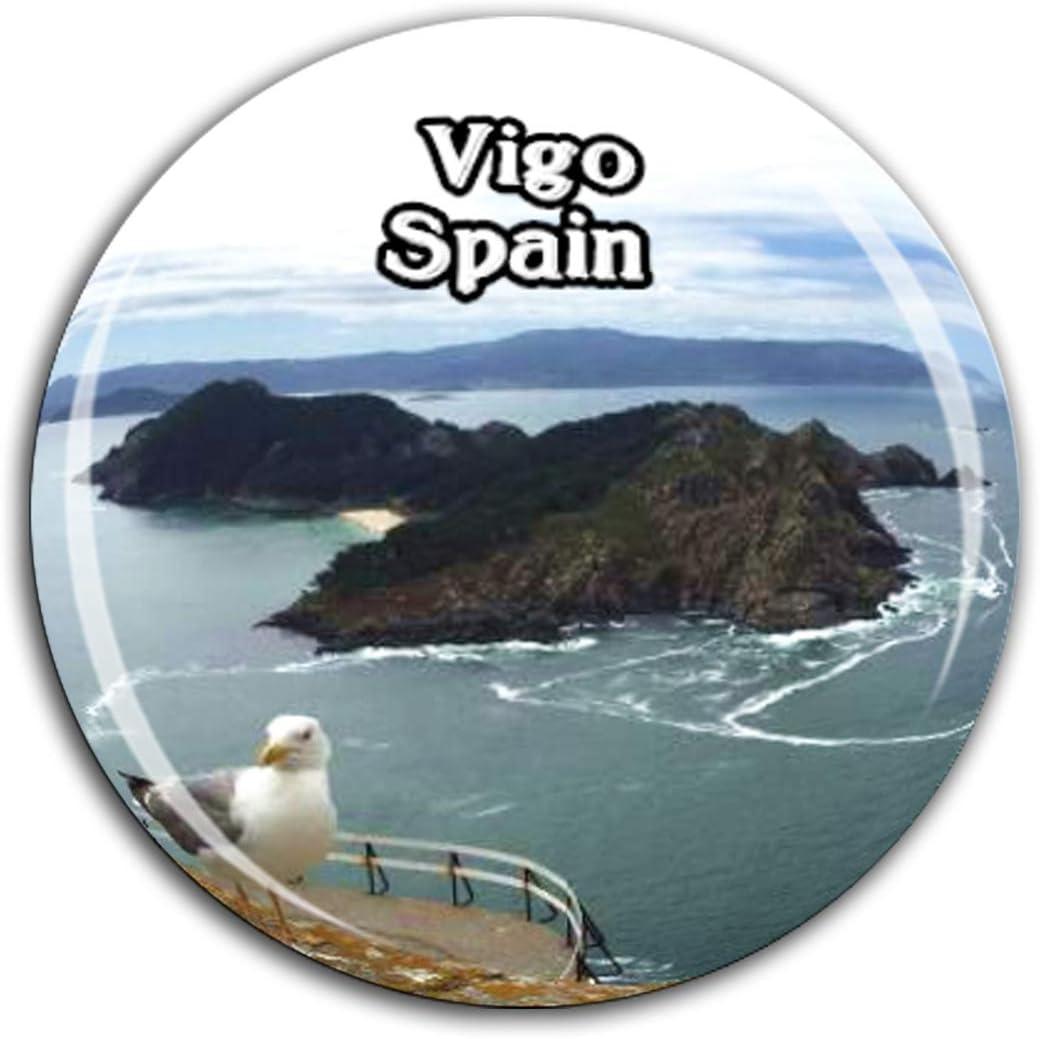 Weekino Vigo España Imán de Nevera Cristal de Cristal 3D Ciudad ...