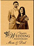 Incredible Gifts India Personalized Wedding Anniversary Gift - Engraved Photo Plaque (7 inches x 5 inches)
