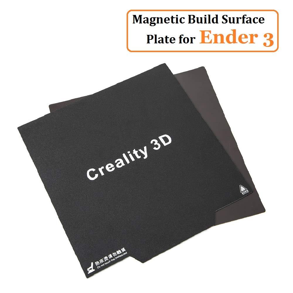 Official Creality Imprimante 3D Ender 3, CR 20 Autocollant Magné tique Flexible Surface de Construction de lit chauffante Plaque De Surface pour Bâ timent pour Ender 3X, Ender 3 Pro Creality 3D