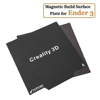 Creality 3D New Ender 3 Impresora 3D Adhesivo con superficie magnética flexible para superficies térmicas para Ender 3X, Ender 3 Pro