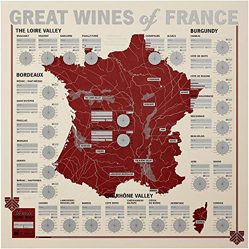 (Great Wines of France: Unique Wine Tasting Map)