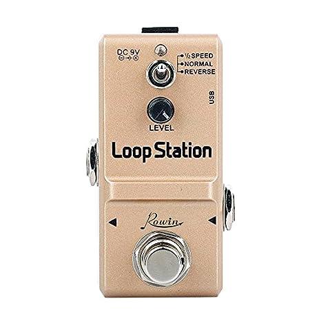 Rowin Pedal de efectos de Guitarra Looper True Bypass con 10 minutos de Looping-Loop