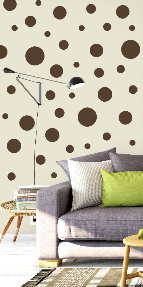 Amazon.com: Create-A-Mural Polka Dot Wall Stickers, Wall Decor Stickers,  Wall Dots, Vinyl Circle Room Dot Decals (Dark Teal): Home u0026 Kitchen