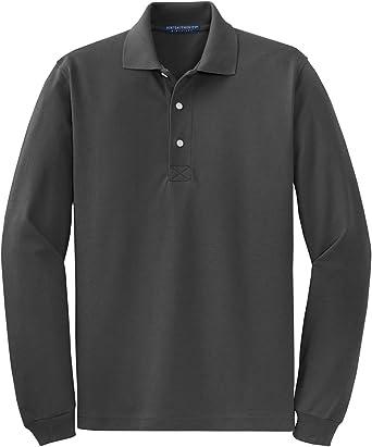Port Authority Men's Breathable Long Sleeve Polo Shirt