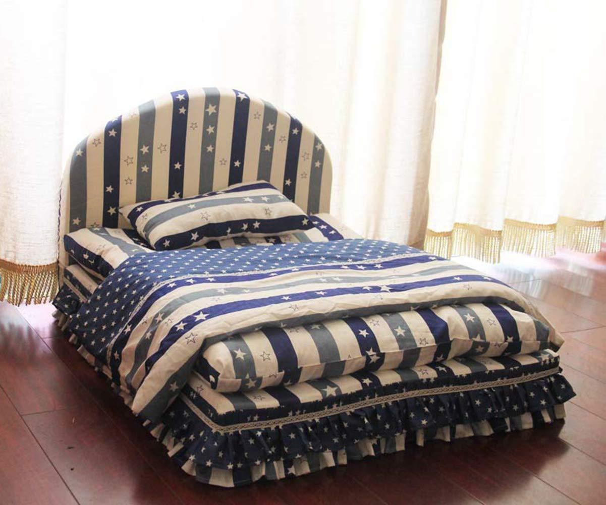 Wkm Cuccia Per Animali Domestici Di Alta Qualità Super Morbida Rimovibile E Lavabile Cuccia Per Gatti Cuccia Blu E Bianca Motivo A Stella 104  85  52 CM