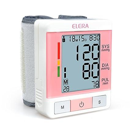 Elera – Tensiómetro de muñeca electrónica Monitor la tensión arterial y la Ritmo Cardiaco con una