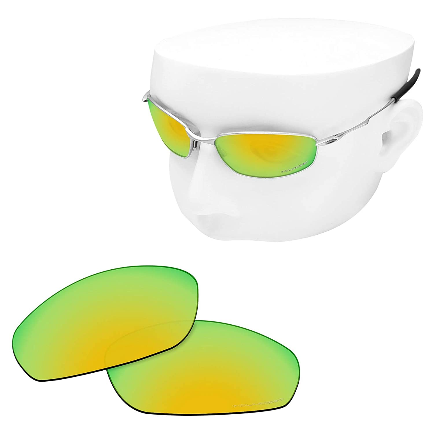 06a3fab81a8 OOWLIT Replacement Sunglass Lenses for Oakley Whisker 24K Mirror Polarized   Amazon.ca  Clothing   Accessories