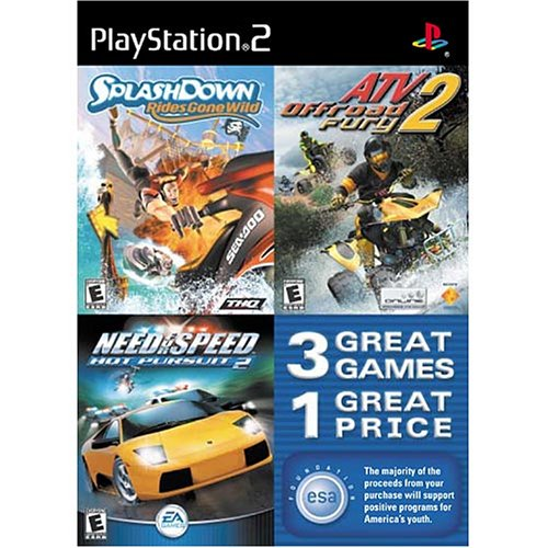 Amazon Com Splashdown Rides Gone Wild Atv Offroad Fury 2 And Need For Speed Hot Pursuit 2 Triple Pack Playstation 2 Artist Not Provided Video Games