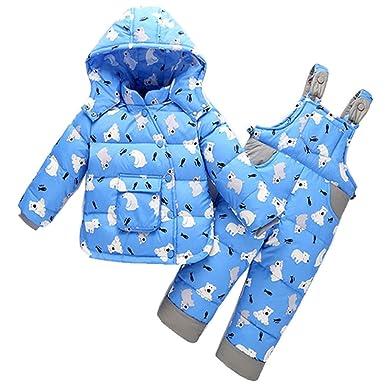 308b3e900eda 2017 winter Children clothing set baby Girl Ski suit sets Boy s ...