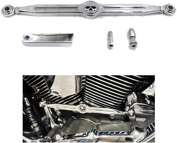Harley Davidon Softail models Krator Chrome Skull Shift Linkage Motorcycle Shifter Link For 1985 /& Up
